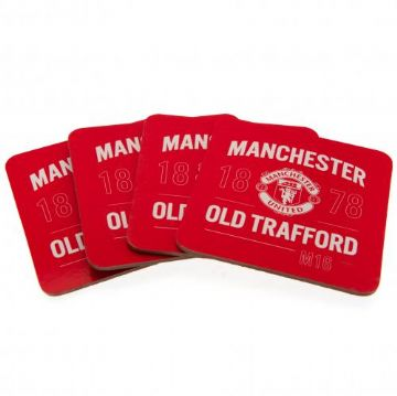Manchester United 4 Pack Coaster Set